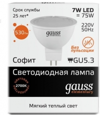 Лампа  Gauss LD13517  MR16 7W 2700K G5.3