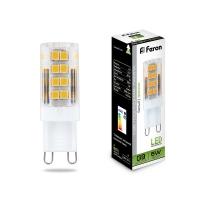Светодиодная капсульная лампа G9 Feron  5W 4000К