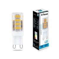 Светодиодная капсульная лампа G9 Feron  5W 6400К