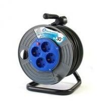 Удлинитель на катушке  Electraline ,30 метров,кабель ПВС сечением 3*1,5мм2