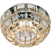 Светильник встраиваемый Feron JD87 потолочный JCD9 G9 прозрачный, золото